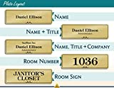 Name Plate for Door, Office, Wall, Customized and