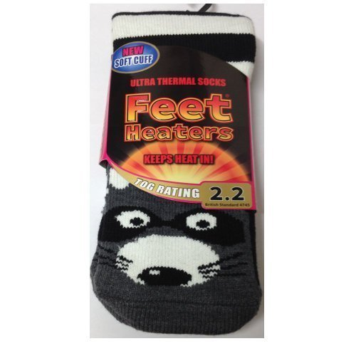 Ladies Size UK 4 EUR37-41 Animal Print Various designs to choose from. 7 Raccoon TOG RATING 2.2 Feet Heaters/™ Ultra Thermal Socks