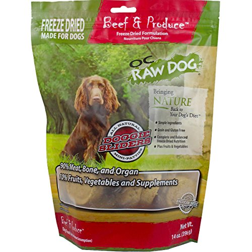 OC Raw Freeze Dried Beef & Produce Patties 14oz