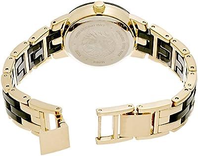 Anne Klein Women's AK/1610BKGB Diamond - Ceramic Bracelet Watch