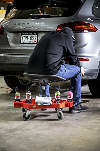 Adam's ProStool Detailing Creeper - Ergonomically Designed for Comfort and Functionality - Adjustable Height and Heavy Duty Rolling Wheels - Comfortably Detail or Paint Correct Any Vehicle by Adam's Polishes (Image #3)