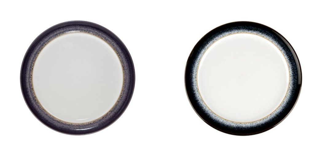 Denby Halo and Heather Wide Rimmed Tea Plate, Set of 8
