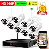 [Forward Wireless Cameras] CORSEE Auto Pair 8CH 960P Wireless Security Camera System with Outdoor 8 x 960P Night Vision Bullet IP Cameras,No Hard Drvie (Easy Remote View by iOS or Android App)
