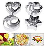 Kyпить Cookie Cutters Pastry Fruit Cutters, Amison 12 Pcs Metal Stainless Steel Heart Star Circle Flower Shaped Mould на Amazon.com