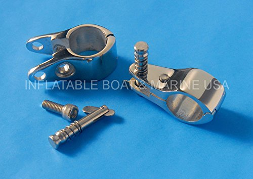 Bimini Top Jaw Slide - Hinged with Quick Release Pin- 7/8'' Hardware Fitting Marine Stainless Steel by Inflatable Boat & Marine USA (Image #1)