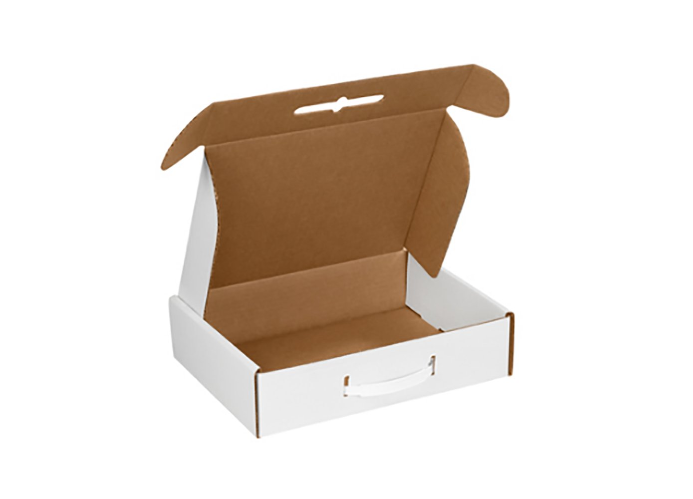 RetailSource MCC1x10 12 1//8 x 9 1//4 x 3 White Corrugated Carrying Cases 28.25 Length Pack of 10 4 Height 26.5 Width