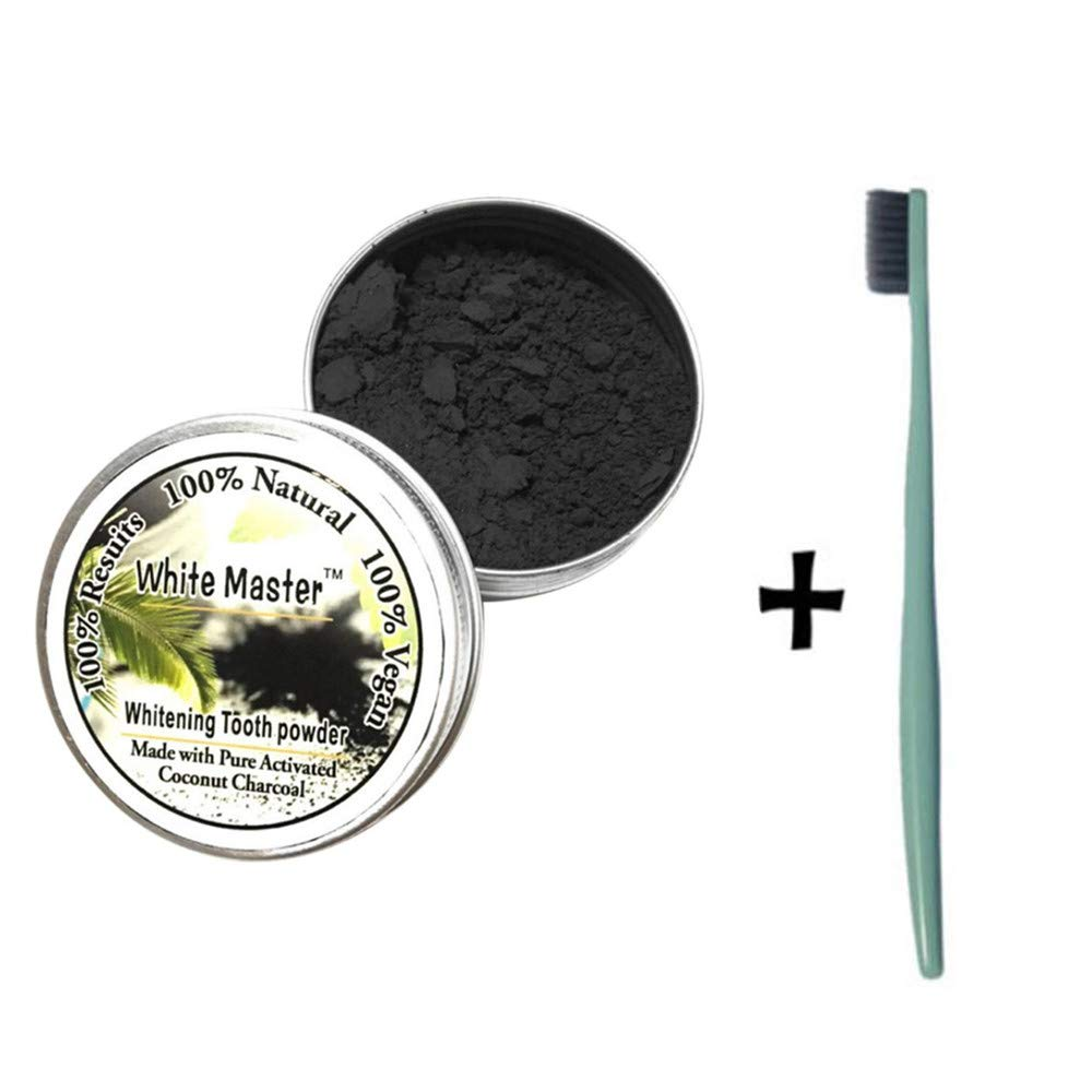 JPJ(TM) New❤Teeth Powder❤1pcs Hot Fashion Teeth Whitening Natural Organic Activated Charcoal Bamboo Powder with Toothbrush (Multicolor) by ❤JPJ(TM)❤️_Hot sale (Image #4)
