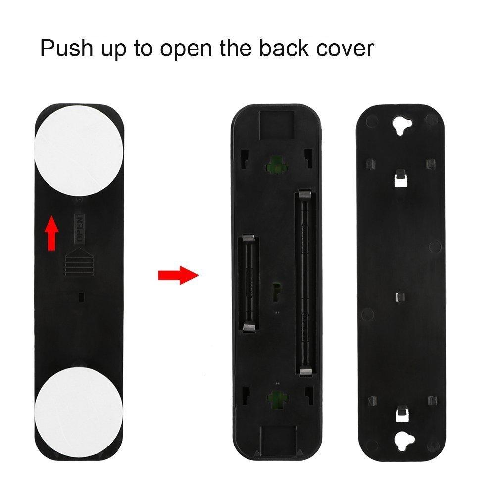 Onerbuy Paquete de 4 LED con batería táctil con luz DIY Stick-on Anywhere Lámpara de noche con empuje LED con 5 botones LED para armarios, armarios, ...