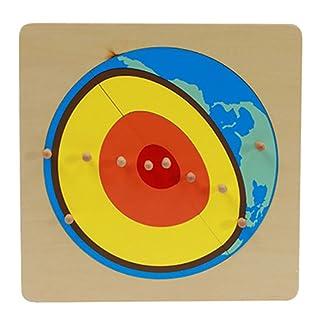 B Blesiya Puzzle della Terra per Bambini Impara sulla Terra Aiuti per Insegnamento della Geografia del Giocattolo