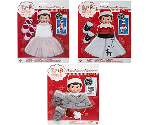 Elf on the Shelf Claus Couture Clothing Set: Rockin' Reindeer Skirt, Twinkle Toes Tutu