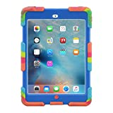 iPad Mini 1 2 3 Case ACEGUARDER Full Body Protective Premium Soft Silicone Cover Proof Case for iPad Mini 1 2 3 (Ice Blue)