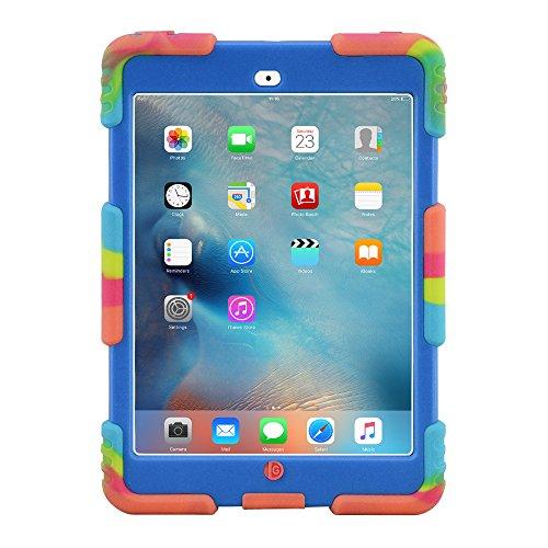 iPad Mini 1 2 3 Case ACEGUARDER Full Body Protective Premium Soft Silicone Cover Proof Case for iPad Mini 1 2 3 (Ice Blue)