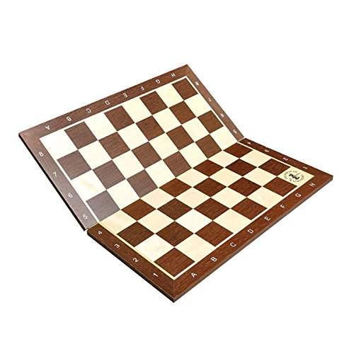 The House of Staunton African Palisander & Maple Folding Wooden Chess Board - 2.25