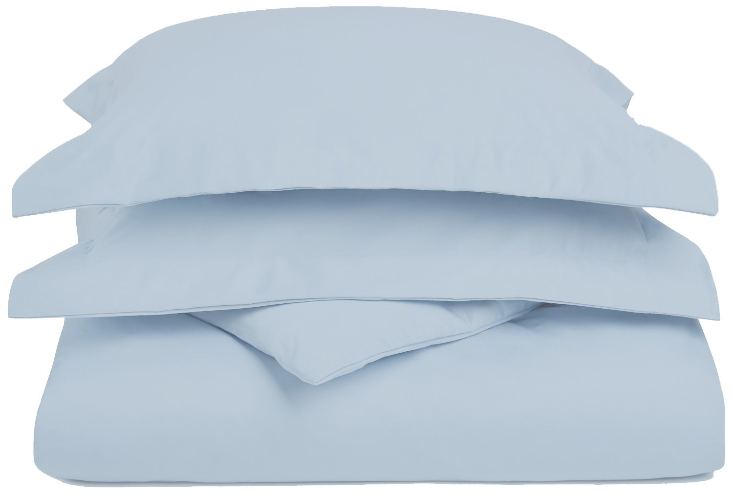 1200 Thread Count 3 Piece Cotton Blend Solid Duvet Cover, King/California King, Light Blue