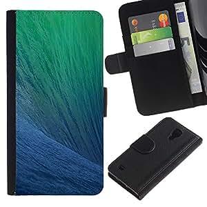 WINCASE (No Para S4 Mini) Cuadro Funda Voltear Cuero Ranura Tarjetas TPU Carcasas Protectora Cover Case Para Samsung Galaxy S4 IV I9500 - océano surf verano azul ola sol