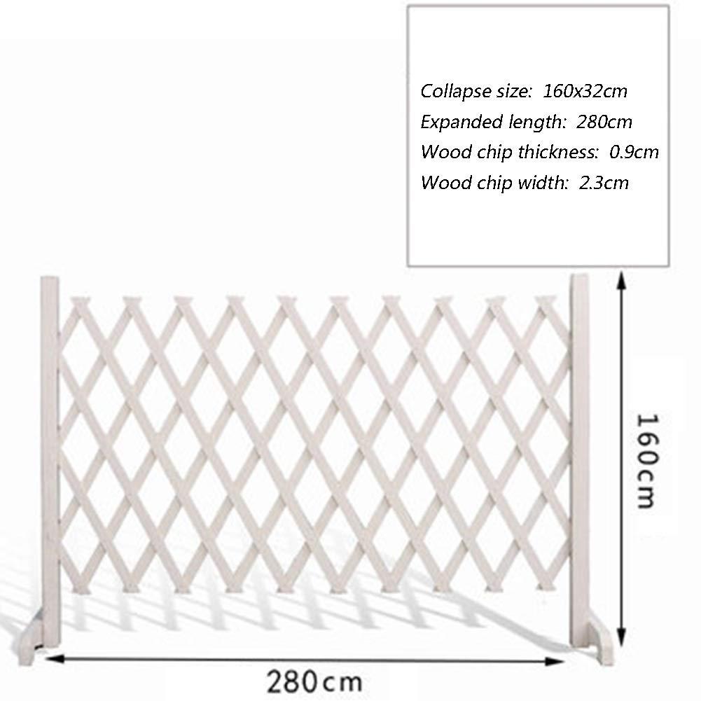JIANFEI 木製 ボーダーフェンスアウトドアデコレーション 子供の動物の安全柵 炭化 防食プロセス 、3色 、5つのサイズ (色 : 白, サイズ さいず : 280x160cm) 280x160cm 白 B07S8PMV4Y
