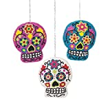 Cheap Beaded Sugar Skull Ornament , Assorted of 3
