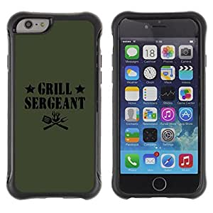 Be-Star Unique Pattern Anti-Skid Hybrid Impact Shockproof Case Cover For Apple iPhone 6(4.7 inches) ( Grilling Sergeant Quote Funny Label Food ) Kimberly Kurzendoerfer