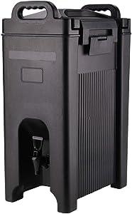 Cater Tek 5 gal Rectangle Black Beverage Dispenser - Insulated - 16 1/2