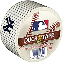 Duck Brand 240686 New York Yankees MLB Team Logo Duct Tape, 1.88-Inch by 10-Yard, 1-Pack