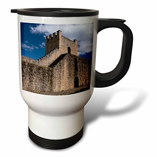 3dRose Danita Delimont - Spain - Spain, Andalusia, The historic roman stone wall at the edge of Ronda. - 14oz Stainless Steel Travel Mug (tm_277900_1) by 3dRose