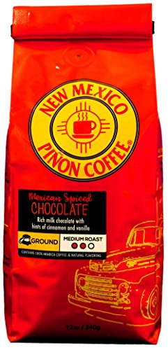 New Mexico Piñon Coffee Naturally Flavored Coffee (Mexican Spiced Chocolate Ground, 12 ounce)