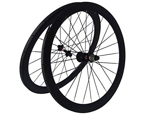 Flyxii Full Carbon Mate Bicicleta de carretera bicicleta wheelset 50mm tubular Rim continúa Hub para Shimano 8/9/10/11S