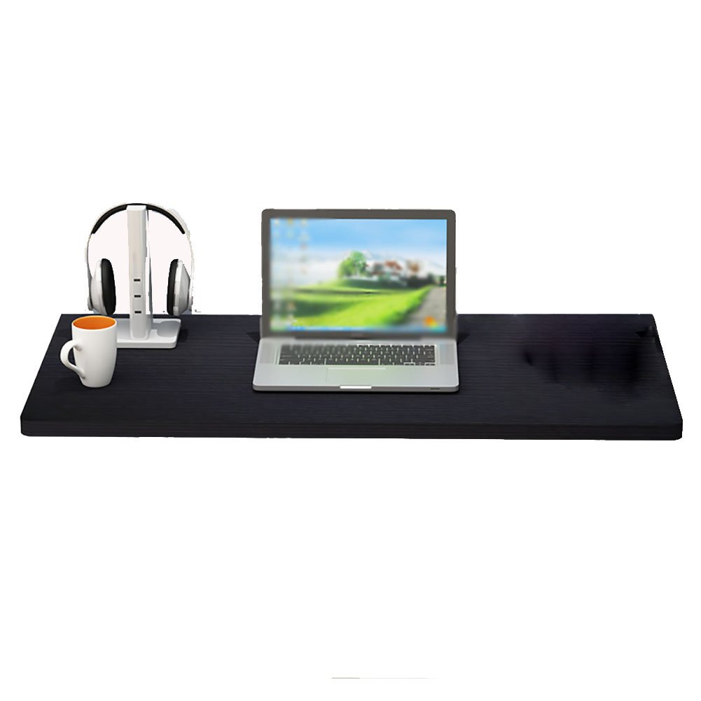 WNX Mesa de Pared abatible Mesa Plegable Mesa de Comedor Mesa de Estudio Mesa de Estudio para niños Mesa Plegable Simple Negro (Tamaño Opcional) (Tamaño : 100  40cm)