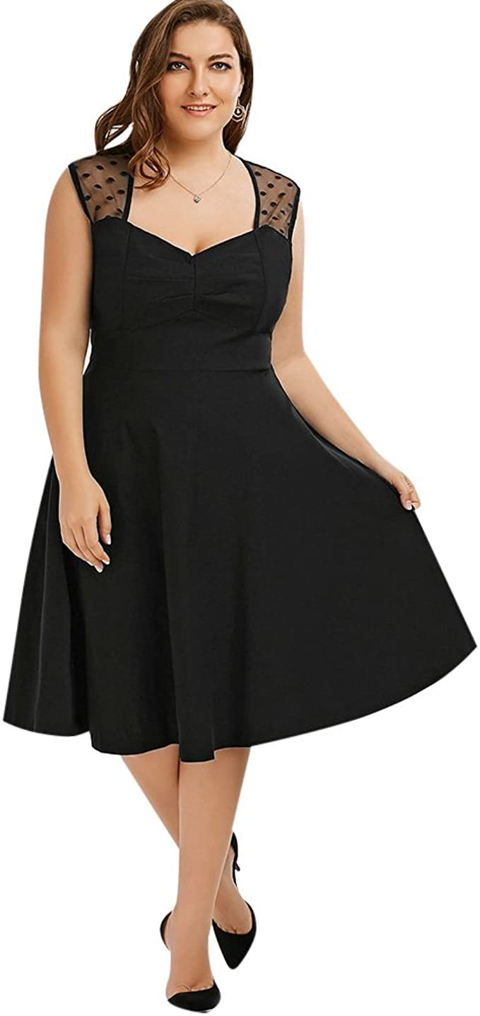 CharMma Damen A-Linie Kleid Gr. 5, Schwarz: Amazon.de: Bekleidung