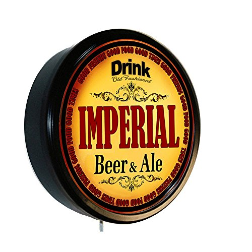 Neon Imperial Sign (Goldenoldiesclocks Imperial Beer and Ale Cerveza Lighted Wall Sign)