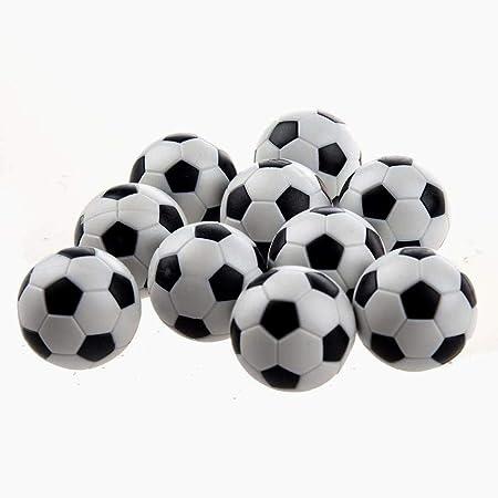 Beito fútbol de la Tabla Foosballs Reemplazos plástico Mini Blanco y Negro del balón de fútbol: Amazon.es: Hogar