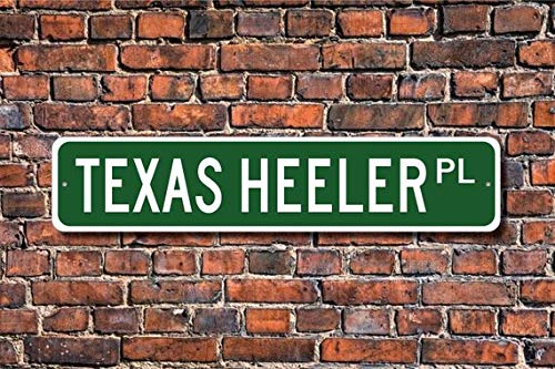 Fhdang Decor Texas Heeler, Texas Heeler Sign, Texas Heeler Lover, Custom Street Sign,Metal Sign, Dog Owner Gift, Dog Lover Sign, Dog Lover Friend, 4