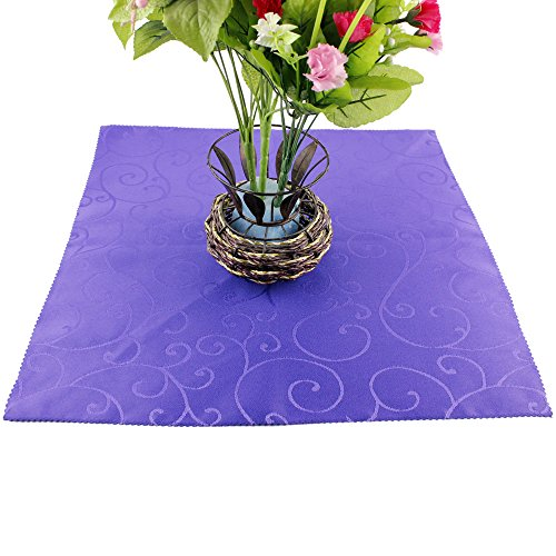 Flare Flatware (Ieasycan Pack 4 Purple 100% Stain Wedding Napkins, Cocktail Napkins, Linen Napkins - Softer and Stronger Ring-spun Cloth Napkins Are a Smarter Solution for All of These Occasions. Add Flare and Class to Your Parties and Events - Much Larger Than Paper Napkins and Super Easy to Wash - 20 in X 20 in)