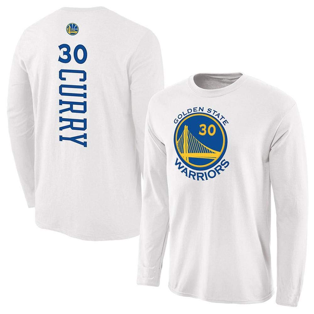 Long Hommes T-Shirt dor State Warriors Logo Stephen Curry Kevin Durant Basketball Formation /à Manches Longues Sport Sweat Blue-S