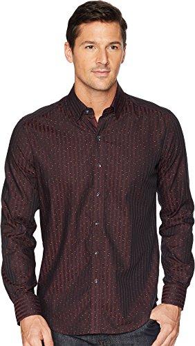 Robert Graham Men's Modern Americana McDermott Sports Shirt Bordeaux XXXX-Large