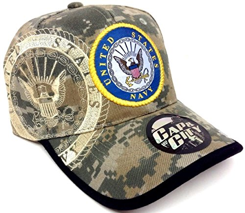 (Seal United States Navy Digital Camo Camouflage Hat Cap Adjustable)