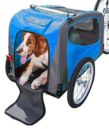 (Schwinn Rascal Pet Trailer, Blue/Grey)