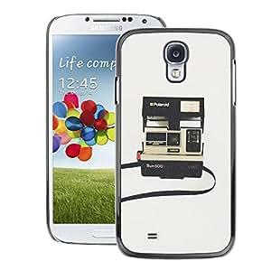 A-type Arte & diseño plástico duro Fundas Cover Cubre Hard Case Cover para Samsung Galaxy S4 (Instant Camera Photography Retro)