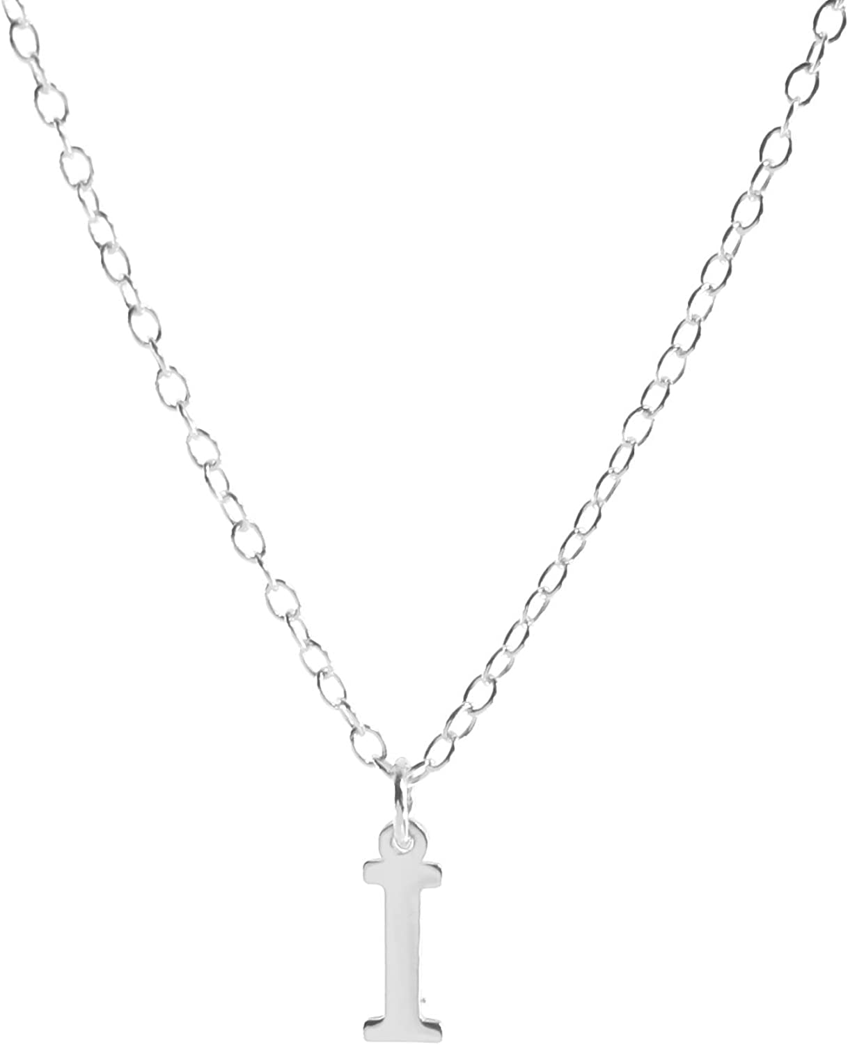 Deidreamers Sterling Silver Personalized Classic Block Initial Necklace