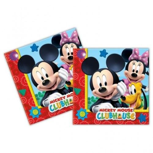 Procos Playful Mickey Mouse Paper Party Lunch Napkins (20 (Mickey Mouse Clubhouse Napkins)