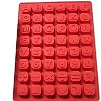 BestOfferBuy Cubeta Molde En Silicona Cubos de Hielo De Letras Alfabeto Inglés Y Números