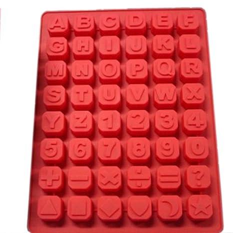 Compra BestOfferBuy Cubeta Molde En Silicona Cubos de Hielo De Letras Alfabeto Inglés Y Números en Amazon.es