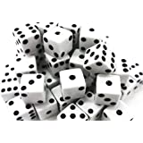 Ifavor123 Bulk Pack of 100 Dice – Standard Size 16MM (White Dice)