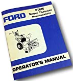 Ford St826 Snow Thrower Blower Model 09Gh5324 Operators Owner Manual Briggs