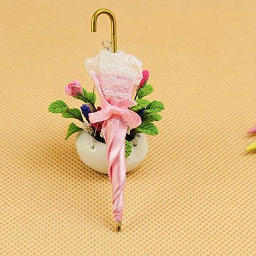 Warmman Cute Lovely Accessoires de Maison de Poupé 1:12 Dollhouse Miniature Accessoire Mini Princesse Parapluie