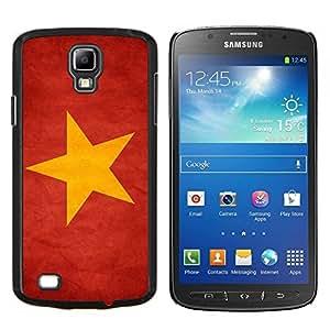 KLONGSHOP // Cubierta de piel con cierre a presión Shell trasero duro de goma Protección Caso - Nacional bandera de la nación País Vietnam - Samsung Galaxy S4 Active i9295 //