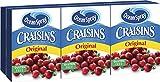Ocean Spray Craisins Dried Cranberries, 1 Ounce Brick Pack (2 Six-Packs)