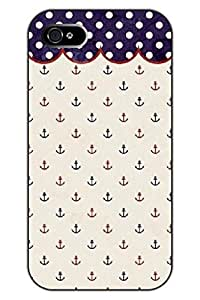 Chuntihavi NEW Fashion Design Hard Skin Case Cover Shell for Mobile Phone Apple iphone 4s--Anchors and Dots