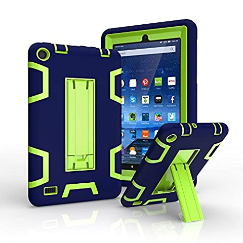 Amazon Fire 7 Case, Gala Three Layer Full-body Shock-proof Hybrid Heavy Duty Armor Defender Protective Cover with Built-in Kickstand for Amazon Fire 7 2015 (5th (Ipad Fourth Generation Case Speck)
