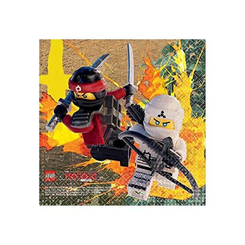 Amscan 16 Lego Ninjago Movie Childrens Birthday Party 5 Beverage Napkins